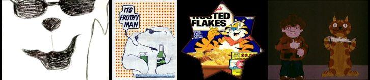 John Webster Cresta lokys (1970); Martin Provensen Tony the Tiger (1952);  Richard Taylor Cartoons Charley  says (1973)