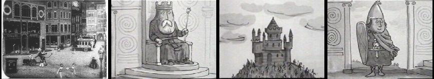 Arthur Melbourne–Cooper. Dreams  of  Toyland (1908); Oliver Postgate  ir  Peter Firmin. The  Saga  of  Noggin  the  Nog (1950)