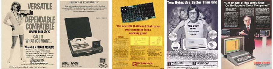 Kompiuterinės technikos reklama 1971-1982 metais