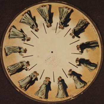 Fenakistoskopas (1831) — Joseph Plateau, Simon von Stampfer